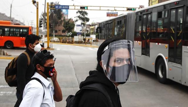 MTC uso obligatorio de protector facial y mascarillas en el transporte público