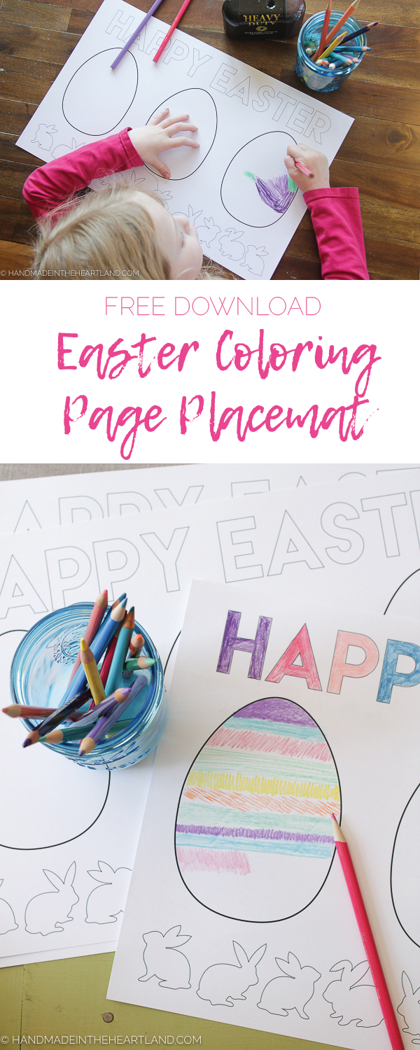 Download and print this Easter Egg Color Page Placemat for free!