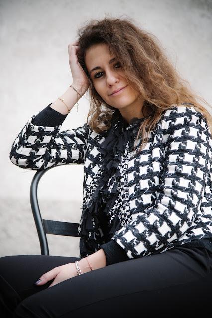 una giacca elegante alla fondazione prada, fondazione prada, giacca elegante occasione, valentina rago, fashion need, alecio photographer, giacche eleganti occasioni,