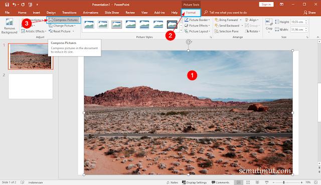 cara memperkecil ukuran file powerpoint 2016
