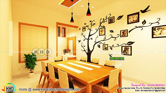 Dining bedroom interior designs