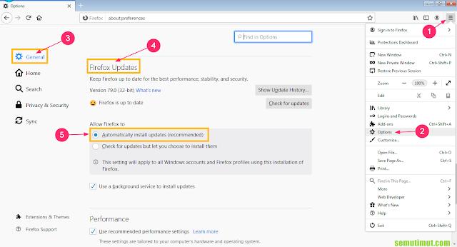 cara update mozilla firefox di kali linux