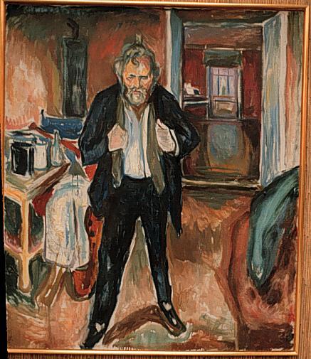 Эдвард Мунк - Автопортрет (в смятении). 1919