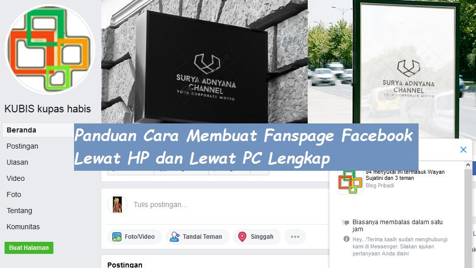 Cara membuat fanspage di facebook,kupas habis