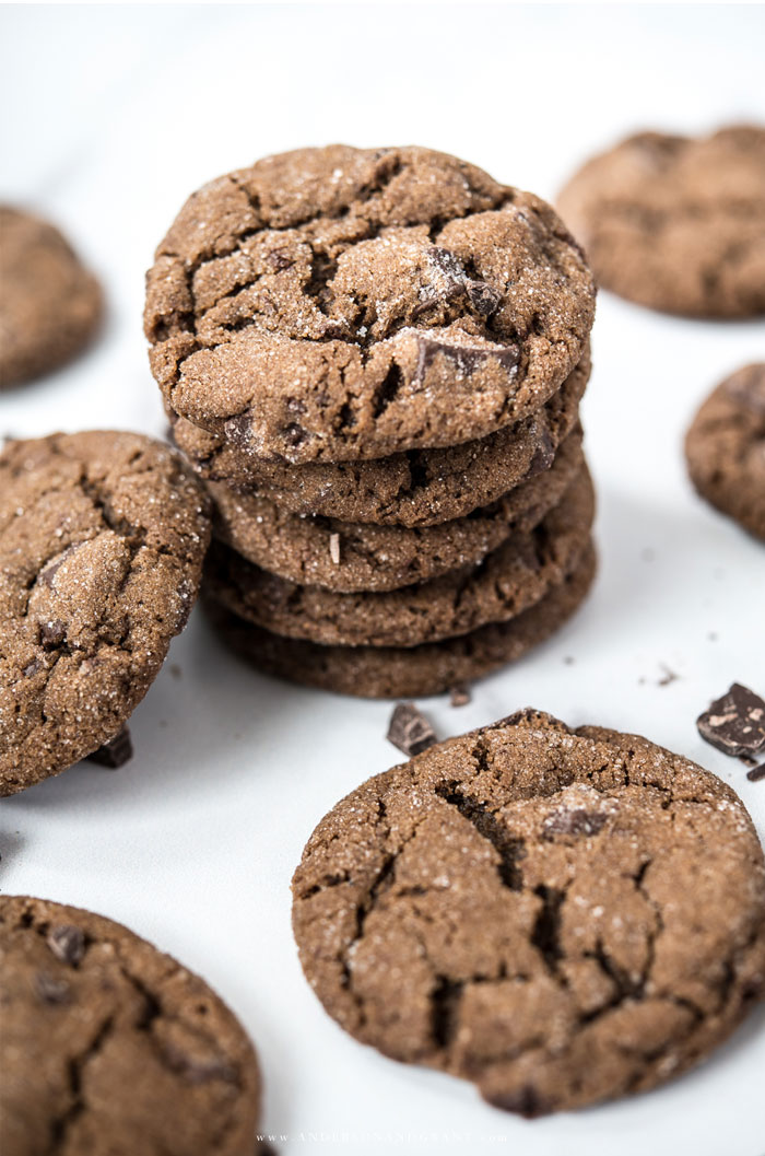 Stack of Chocolate Chunk Gingerbread Cookie