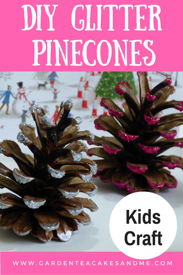 Easy Pine Cone Crafts Christmas Glitter Kids Crafts Christmas
