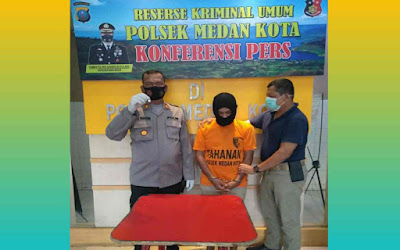 Warga Johor Diamankan Polsek Medan Kota, Ditemukan BB Paket 40 Ribu