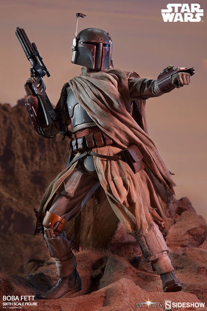 Sideshow Collectibles 1/6th scale Mythos Boba Fett 12-inch figure like you've never seen before