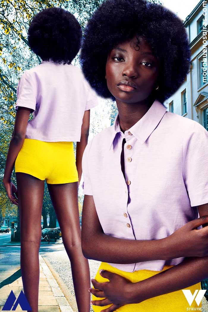 Camisa de mujer manga corta verano 2022