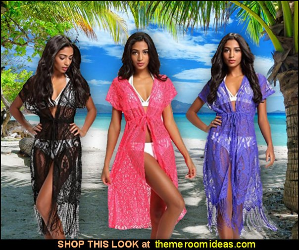 Womens summer Beach Wear Lace fringe Cover up womens swimwear beach wear summer clothing