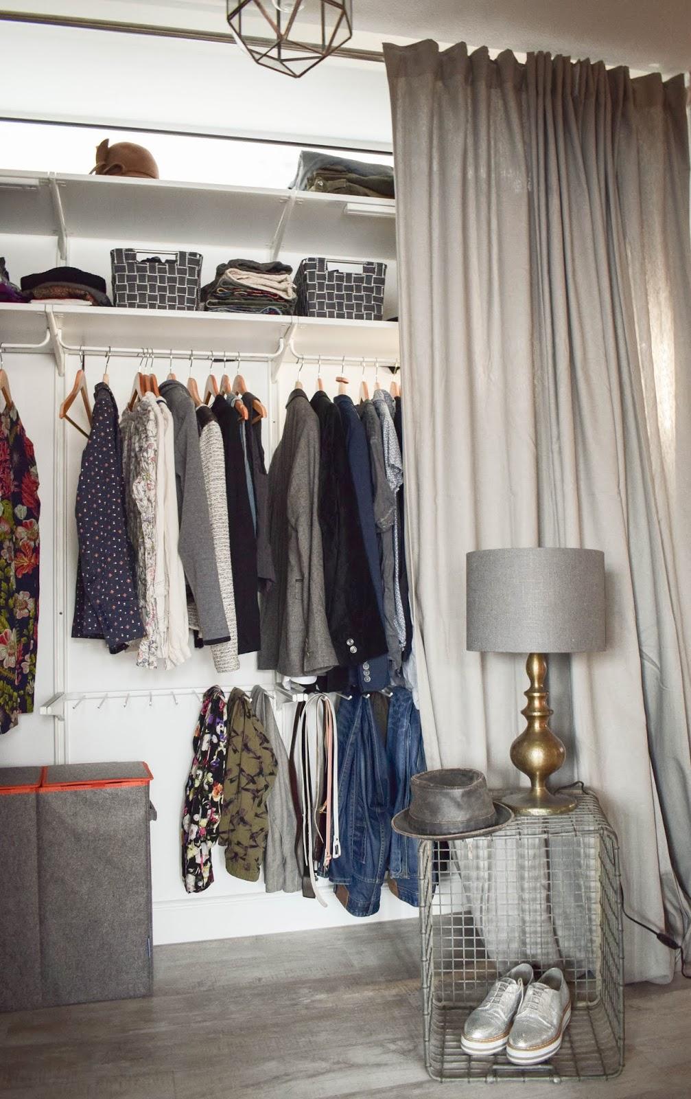 Aufbewahrung mit Wenko Wäsche praktisch Kleiderschrank Wäschesammler DIY Schrank einrichtung