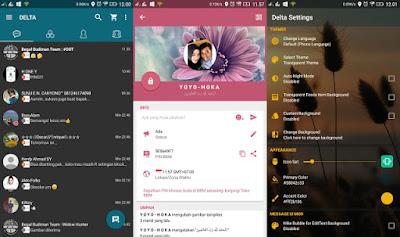 Aplikasi BBM Mod Android Delta v 2.13.0.26 Release Terbaru Changelog v3.4.0
