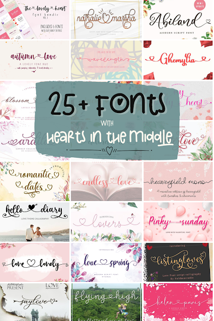 silhouette 101, silhouette america blog, MF I love glitter font alternative, speciality fonts, fonts with hearts