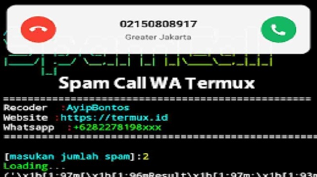 Spam Call WA Termux