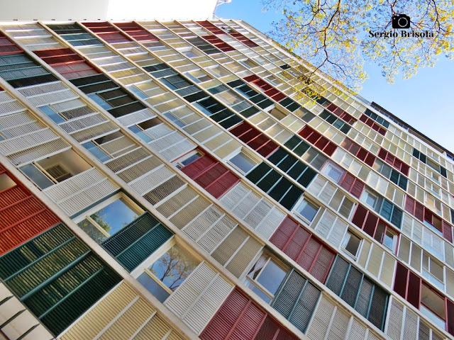 Vista artística da fachada e detalhes do Edifício Lausanne - Higienópolis - São Paulo