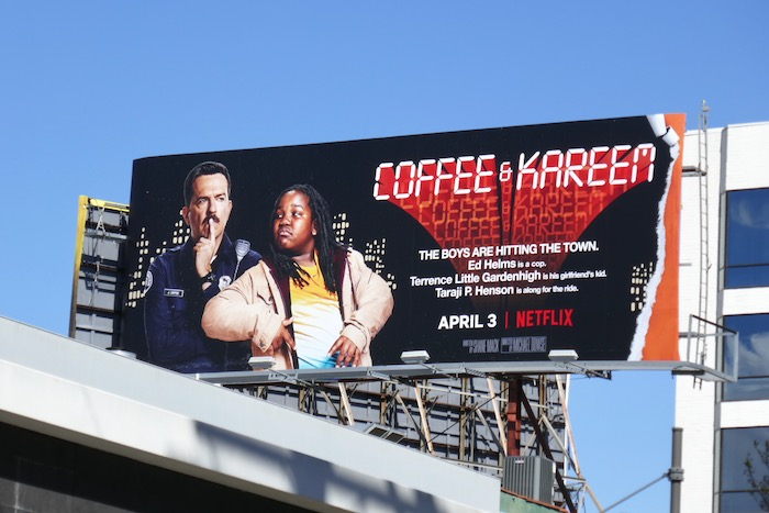 Coffee and Kareem movie billboard