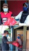 Anak Tanjung Enim di Perantauan Bagikan Sembako Pada Warga di Kampung Halaman