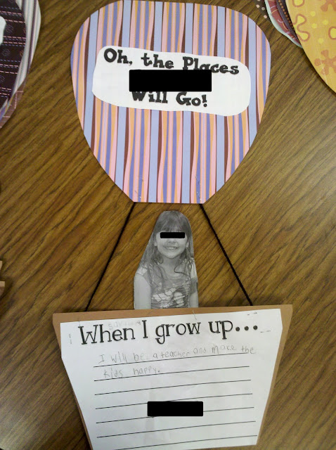 Great first day of school activity to go with the reading of Oh The Places Youll