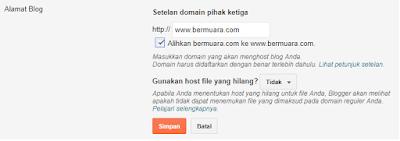 mengganti domain tld com