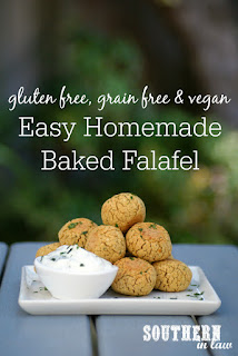 Homemade Gluten Free Baked Falafel Recipe