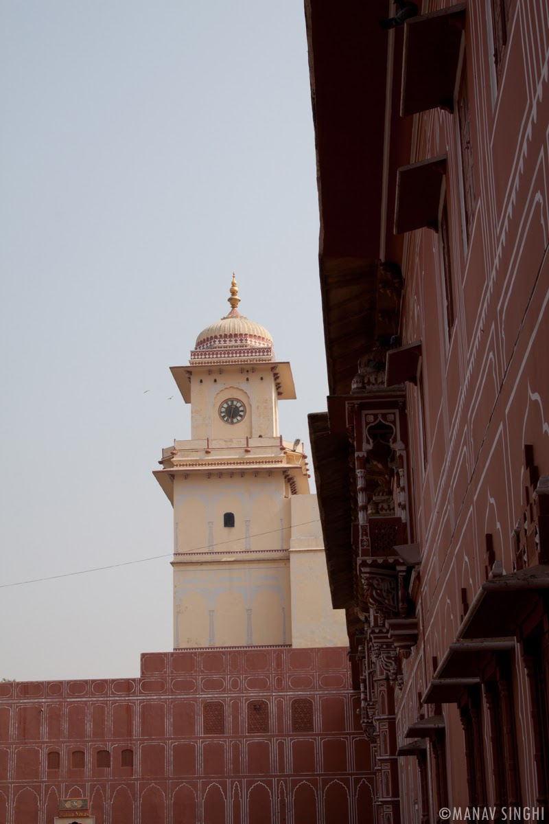 Clock Tower at The City Palace, Jaipur.