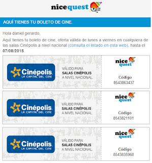 Boletos Nicequest