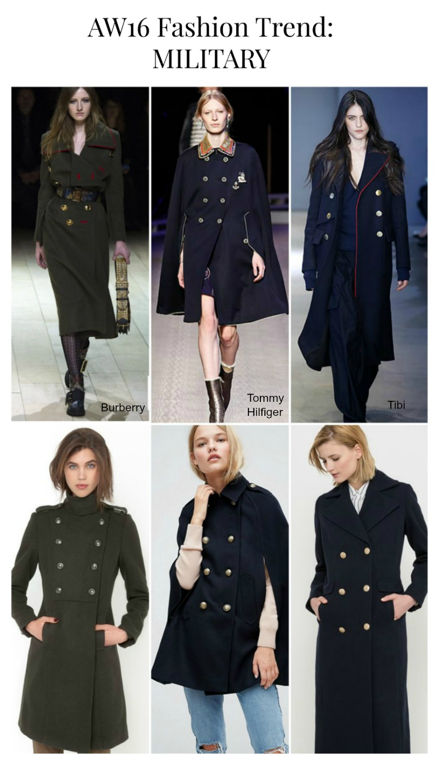 AW16 Fashion Trend Military