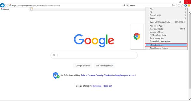 cara reset internet explorer tombol internet options