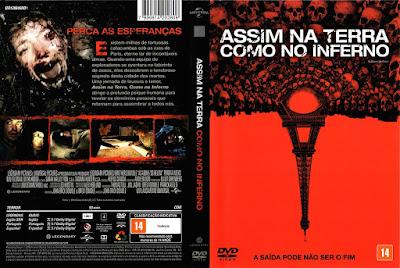 Filme Assim na Terra Como no Inferno DVD Capa