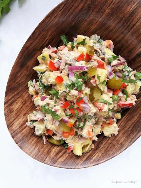 Ziemniaczana sałatka z tuńczykiem przepis