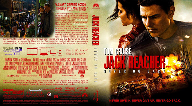 Jack Reacher Never Go Back 4k Bluray Cover