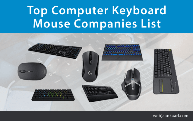 How Many Computer Keyboard and Mouse Companies in India?