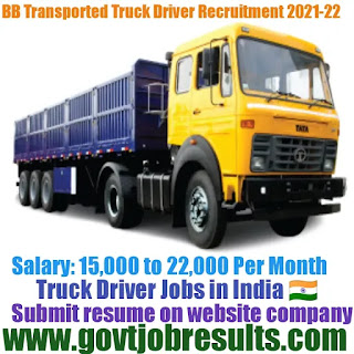 Bb Transported Truck Driver Recruitment 2021-22