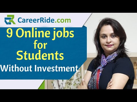 9 Online jobs for students to earn without investment Best part time jobs for students