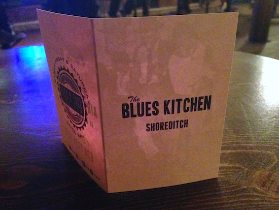 The Blues Kitchen menu
