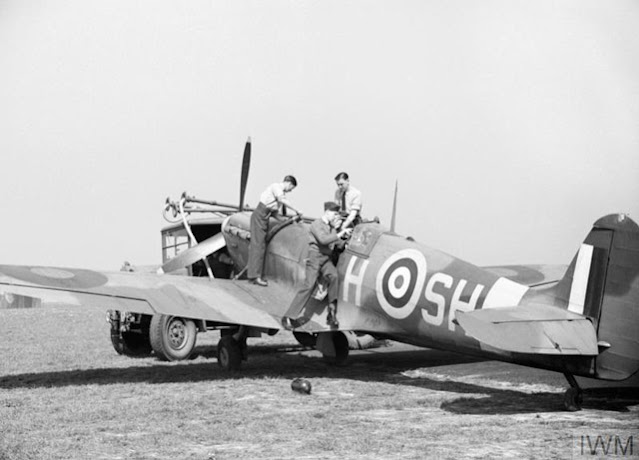 A Spitfire at RAF Hornchurch, 7 May 1942 worldwartwo.filminspector.com