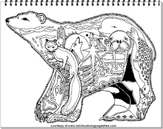 free detailed bear coloring pictures