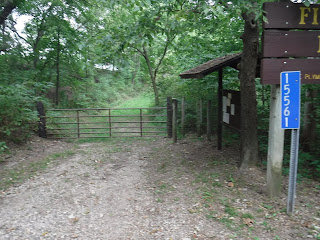 entrance to hiking trail at Five Ridge Prairie in Westfield, Iowa