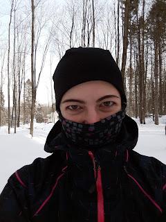 Femme, multicouche, hiver