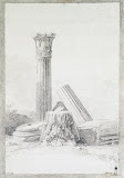 Marble Architectural Fragments Found in Citta Vecchia and Rabbato on Malta by Jean-Pierre-Laurent Houel - Architecture Drawings from Hermitage Museum