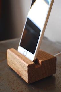 reclaimed wood charging station