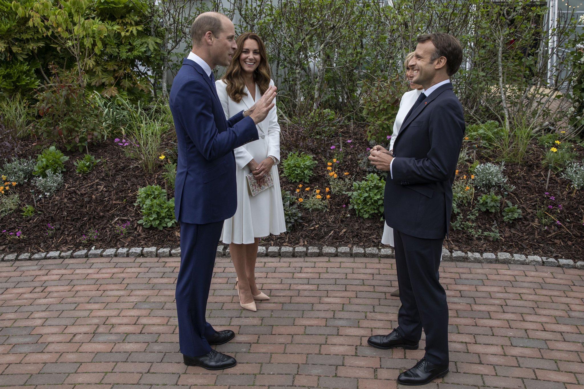 Książę i księżna Cambridge na przyjęciu z okazji szczytu G7 w Kornwalii