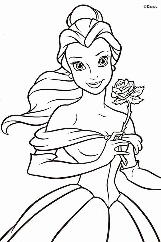 Tranh tô màu công chúa 6