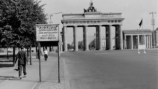 Frontera entre Berlín Este y Oeste antes del muro