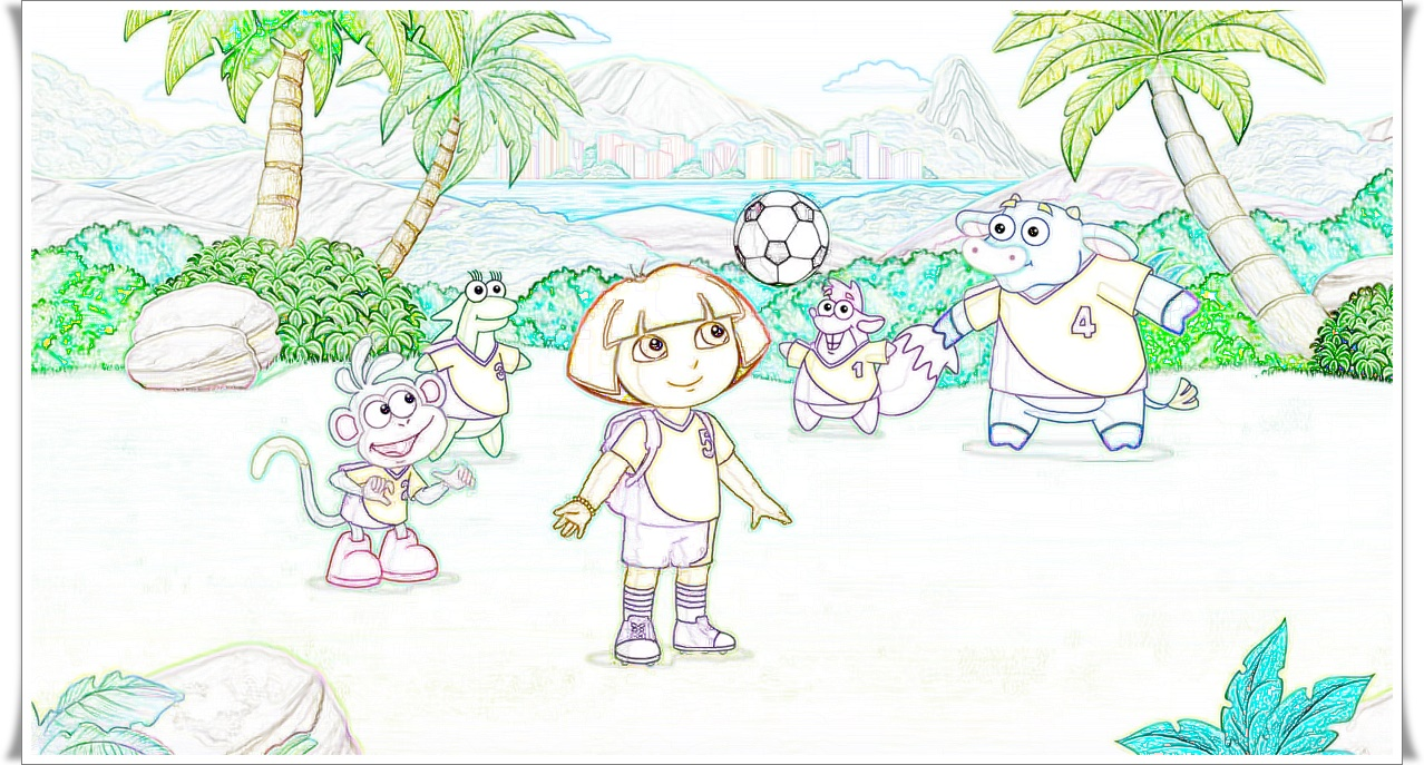 Dora Printables Connect The Dots Coloring Page Dot Worksheets ... | 687x1278