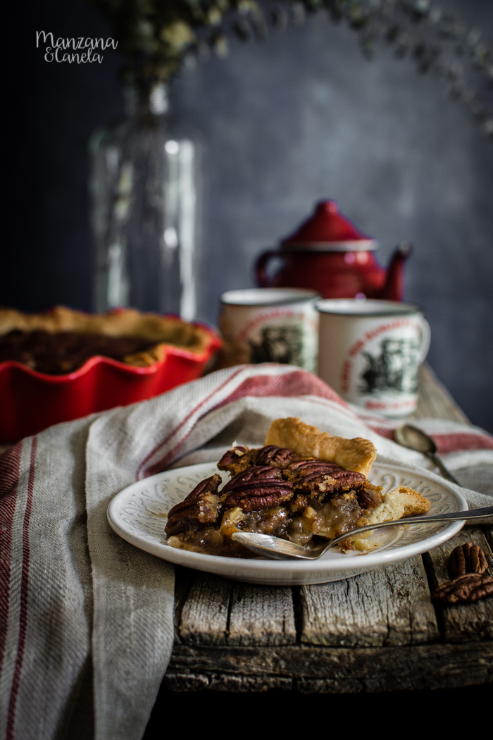Pecan Pie. Receta tradicional americana para Acción de Gracias.