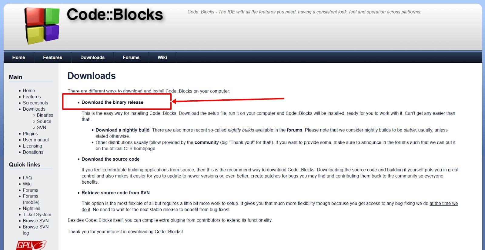 تحميل برنامج code blocks كامل