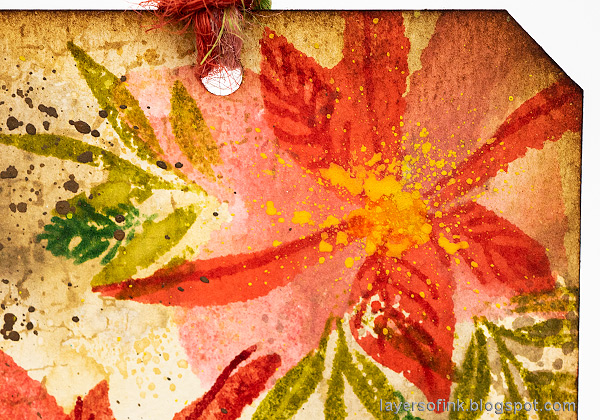 Layers of ink - Inky Poinsettia Tag Tutorial by Anna-Karin Evaldsson.