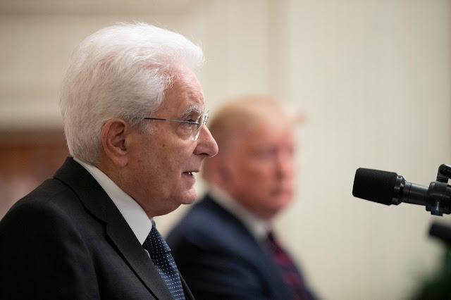 """رئيس إيطاليا،《ماتّاريلّا》من واشنطن: """"الوضع الحالي في ليبيا مصدر قلق كبير لي"""""""