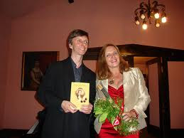 Wojciech Kocyan with Maja Trochimczyk, at the Ruskin Art Club, 2010